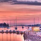 Sunset Sailboats by Jack DiMaio
