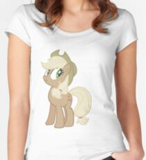 """Applejack lies """"You"""" Version Women's Fitted Scoop T-Shirt"""