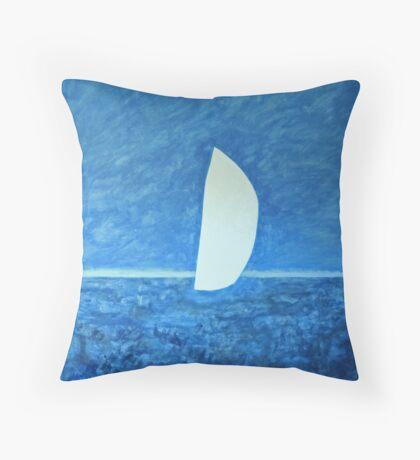 Ghost Sail Throw Pillow
