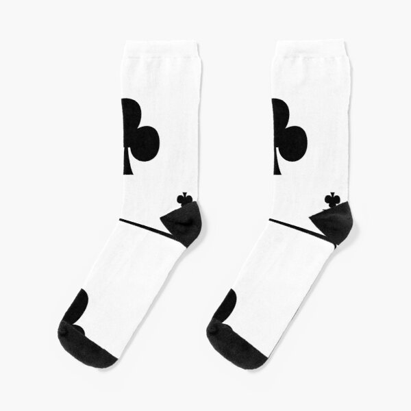 Playing Card Ace Of Clubs Socks