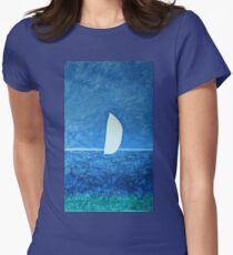 Ghost Sail  Women's Fitted T-Shirt