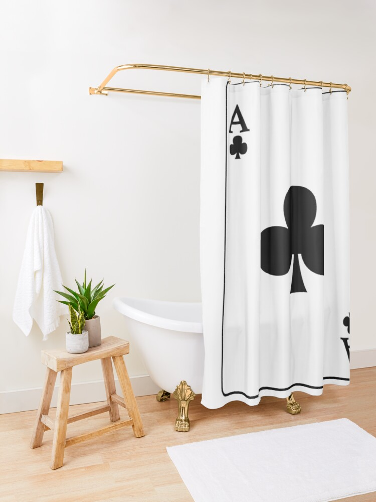Alternate view of Playing Card Ace Of Clubs Shower Curtain
