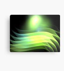 Citrus Lime Waves Metal Print