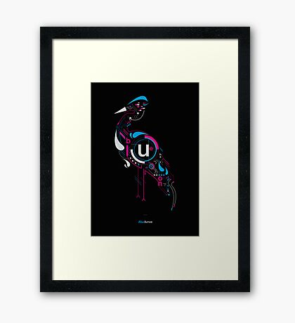 Blueheron Framed Print