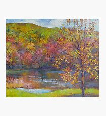 Mountain lake in fall Photographic Print
