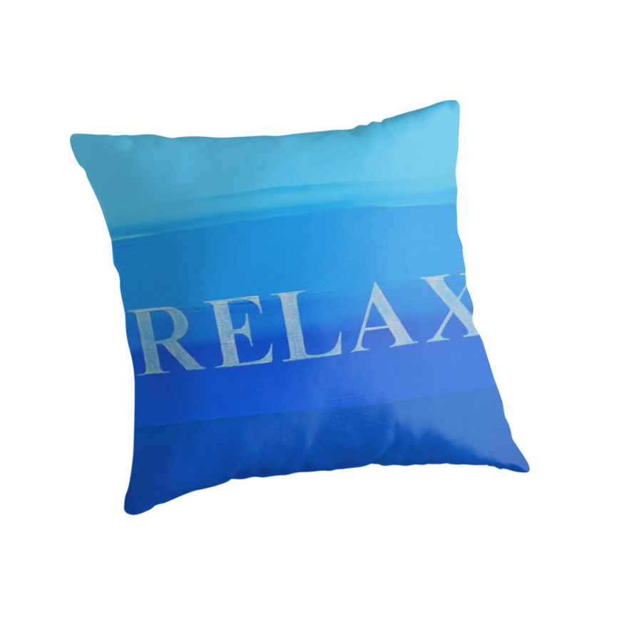 Throw Pillows That Say Relax :