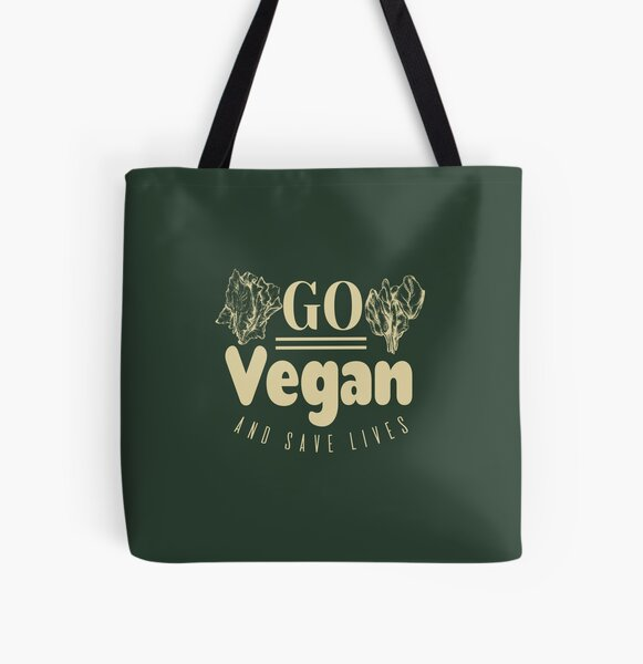 Go Vegan And Save Lives All Over Print Tote Bag