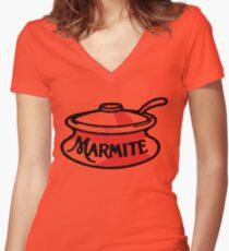 Marmite pot Women's Fitted V-Neck T-Shirt