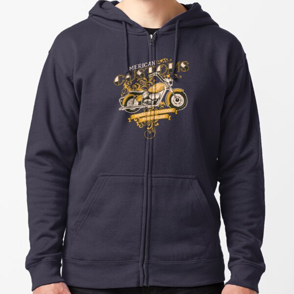 Motorcycle My Bike Makes Me Happy You Not So Much Hooded Graphic Hoodie for Men