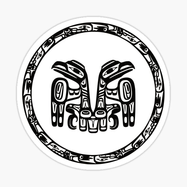 Haida people Coat of Arms Sticker