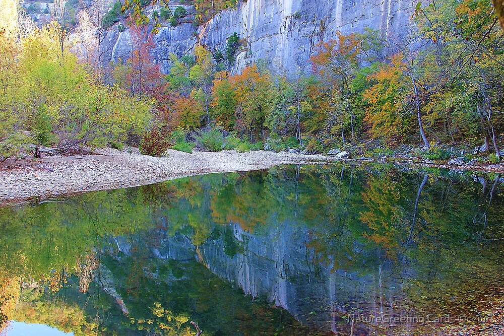 Autumn on Steel Creek,  Buffalo National River by NatureGreeting Cards ©ccwri