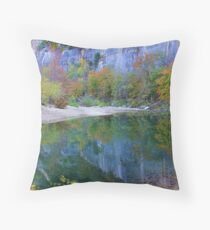 Autumn on Steel Creek,  Buffalo National River Throw Pillow