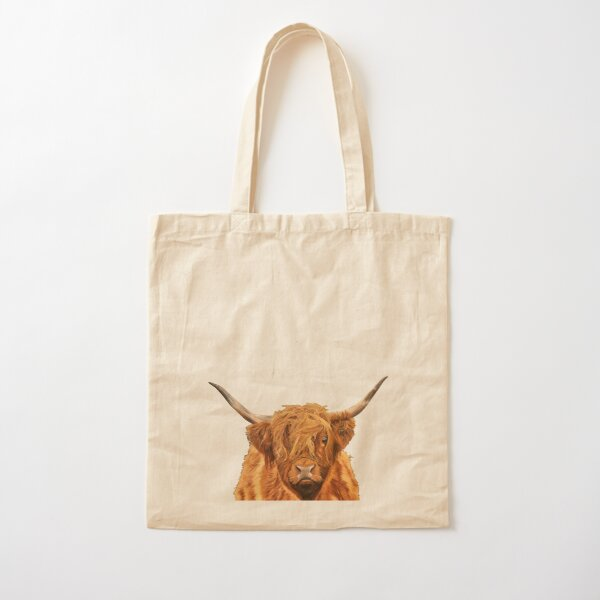 Highland Cow - Looking at You Cotton Tote Bag