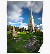 St Mary's, Painswick, Cotswolds, England Poster