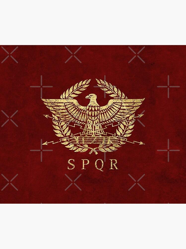 Roman Empire Eagle Emblem - Vintage Gold by Lidra
