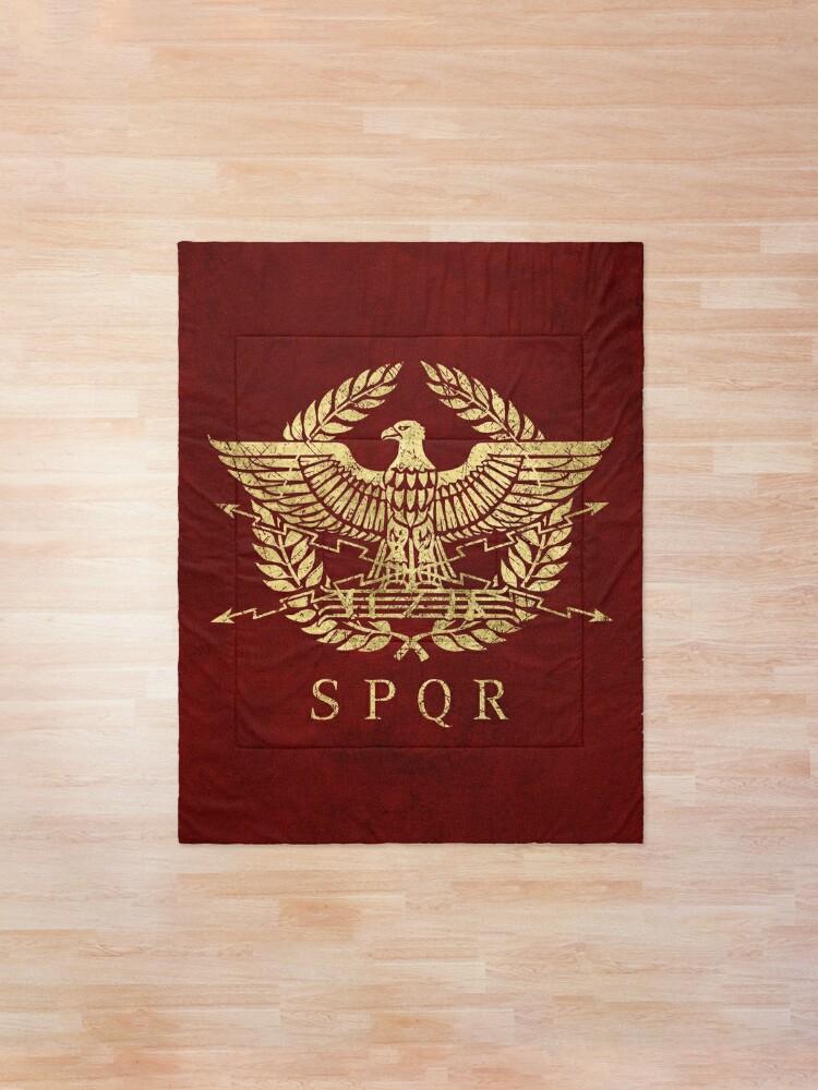 Alternate view of Roman Empire Eagle Emblem - Vintage Gold Comforter