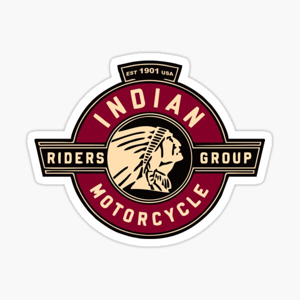 Indian Motorcycle Riders Sticker