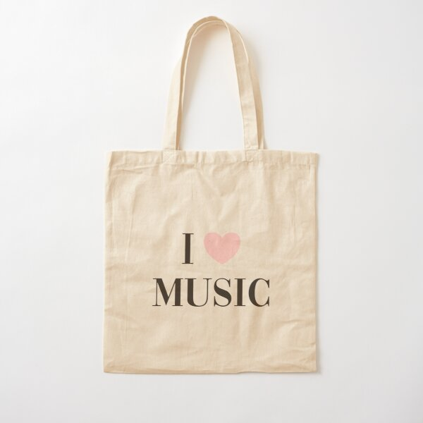 I love music  Cotton Tote Bag