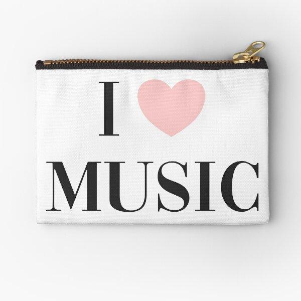 I love music  Zipper Pouch