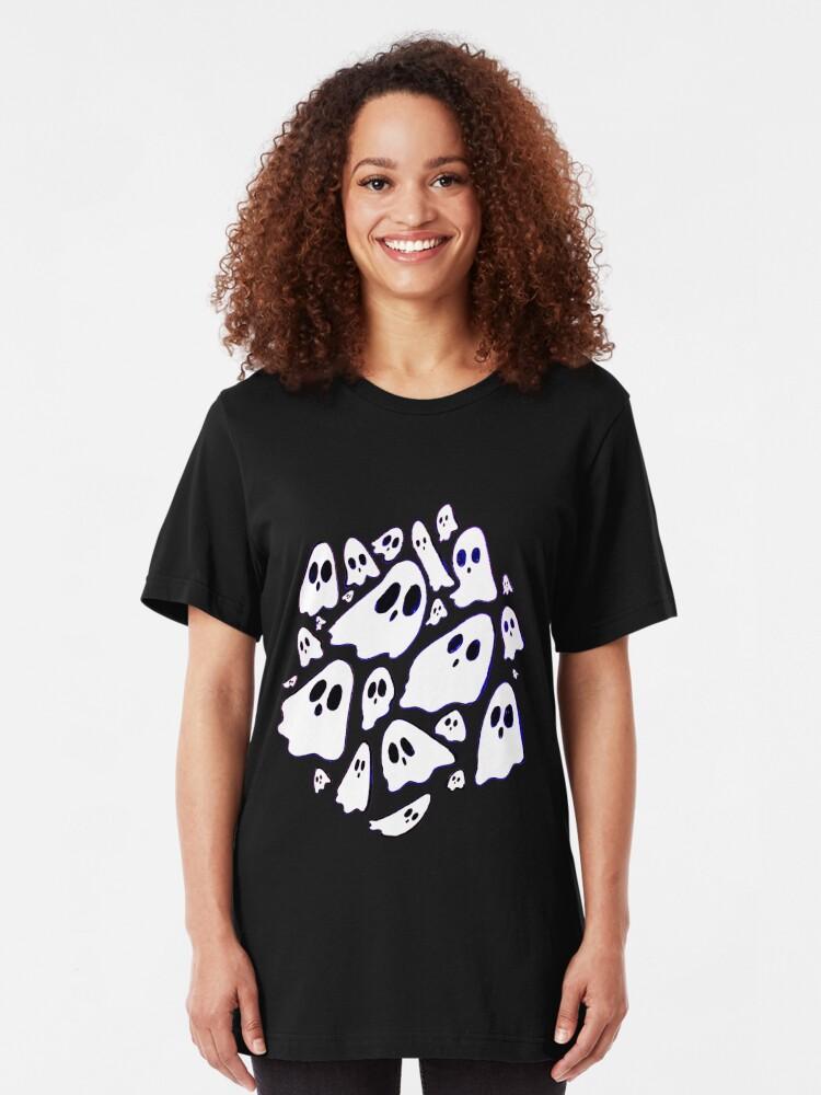Alternate view of Inktober Ghosts  Slim Fit T-Shirt