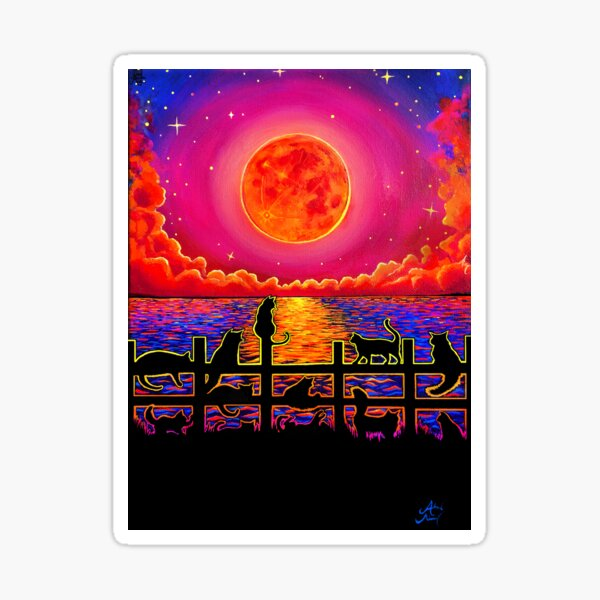 Moonrise Meeting Sticker