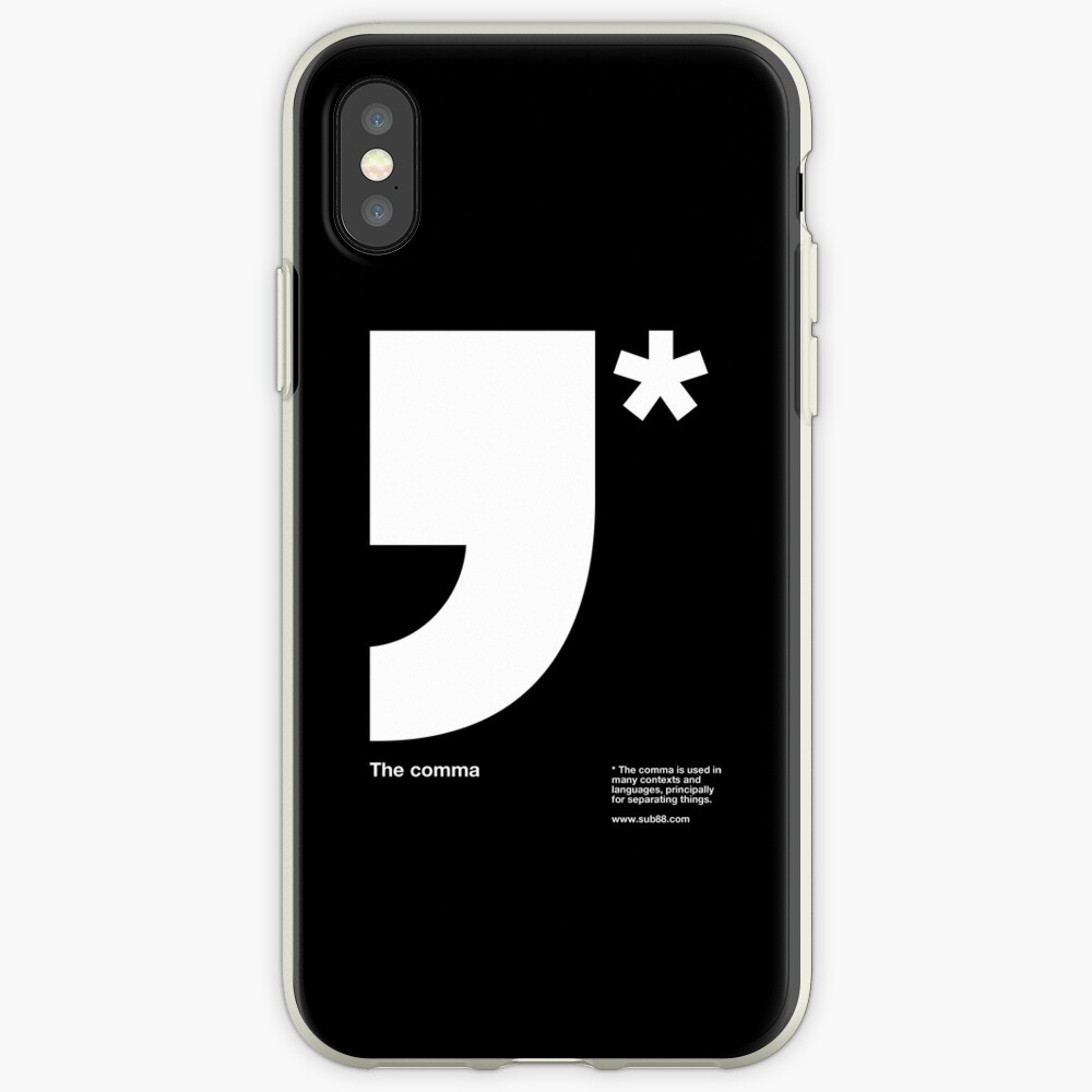 Comma iPhone Case & Cover