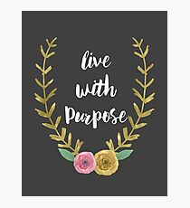 Live With Purpose Alpha Gam Photographic Print