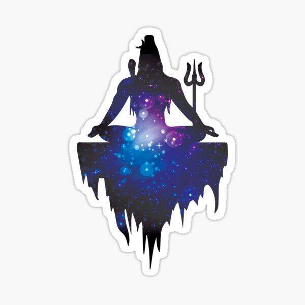 The Ancient Mystical Yogi Lord Shiva Sticker