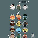 DroidArmy: Maclac Squadron (ironic iPhone case) by maclac