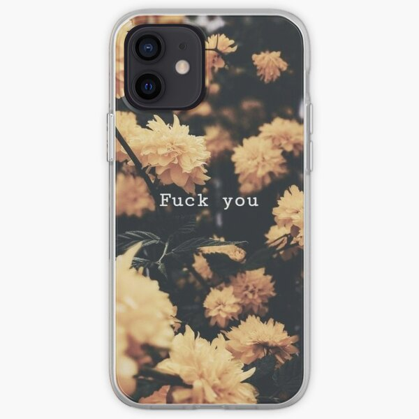 Fuck You - Flowers Pattern iPhone Soft Case