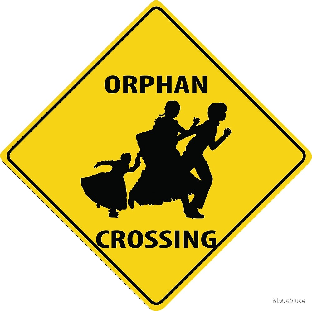 Orphan Crossing Road Sign by MousMuse