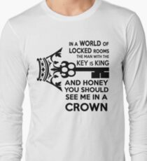 Moriarty Key Quote - Black Text Long Sleeve T-Shirt