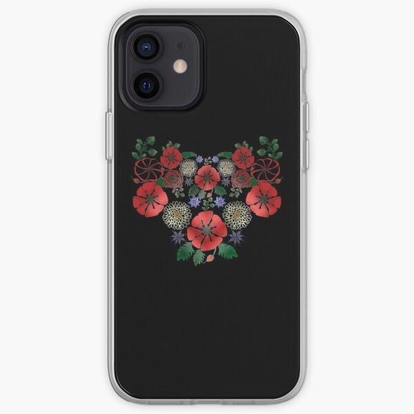 Vintage Ukrainian Embroidery Vyshyvanka Style Cute Floral Ukraine Gift iPhone Soft Case