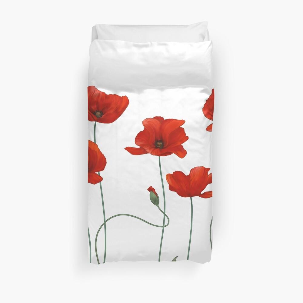 Poppy Stems. Duvet Cover