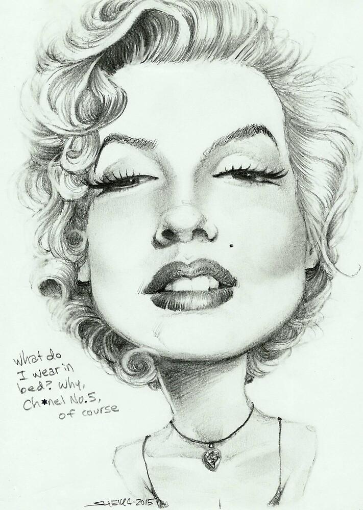 Marilyn (censored) caricature art by Sheik by sheik1