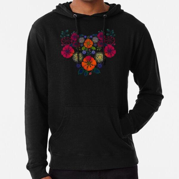 Vintage Ukrainian Embroidery Vyshyvanka Style Retro Floral Ukraine Gift Lightweight Hoodie