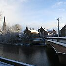Morpeth Winter 2011 - St. Roberts, Bridge and River by Jan Szymczuk