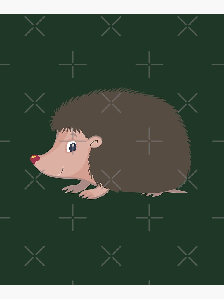 small forest hedgehog with sharp spines and read nose by duxpavlic