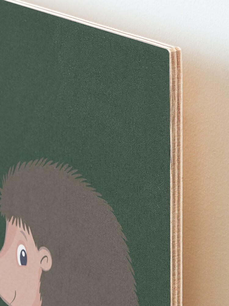 Alternate view of  small forest hedgehog with sharp spines and read nose Mounted Print