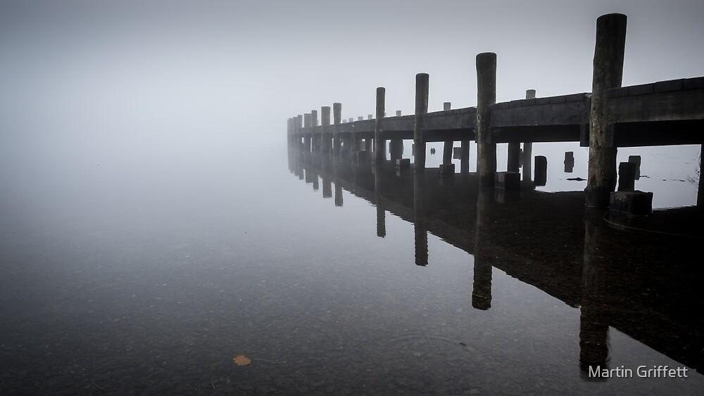 Jetty in Mist by Martin Griffett