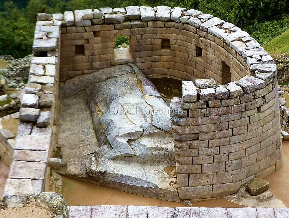 """""""Images Of Peru - Machu Picchu (Temple Of The Sun 3A)"""" by"""