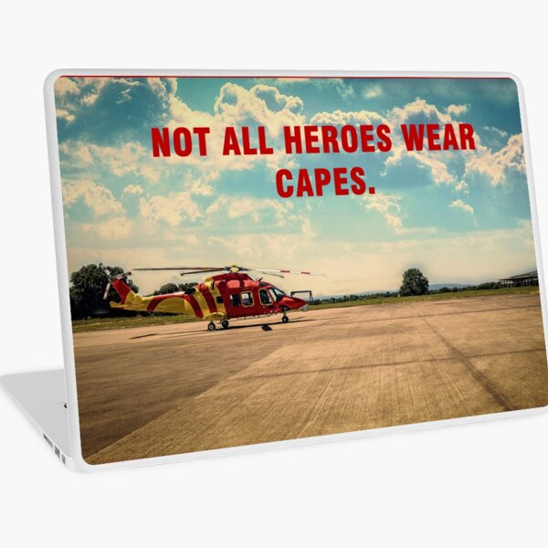 Helicopter Emergency Medical Services, Heroes, Helicopter, Stunning Image Laptop Skin