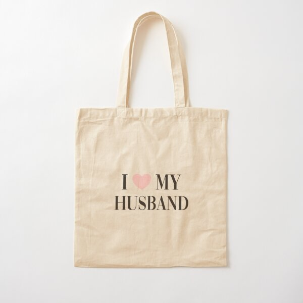 I love my husband Cotton Tote Bag