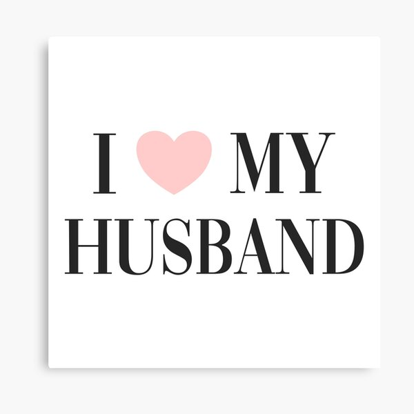 I love my husband Canvas Print