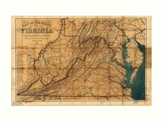 Map of the State of Virginia by W. L. Nicholson (1862) by allhistory