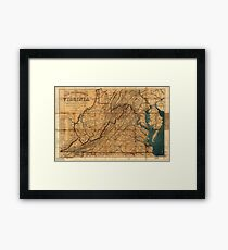 Map of the State of Virginia by W. L. Nicholson (1862) Framed Print