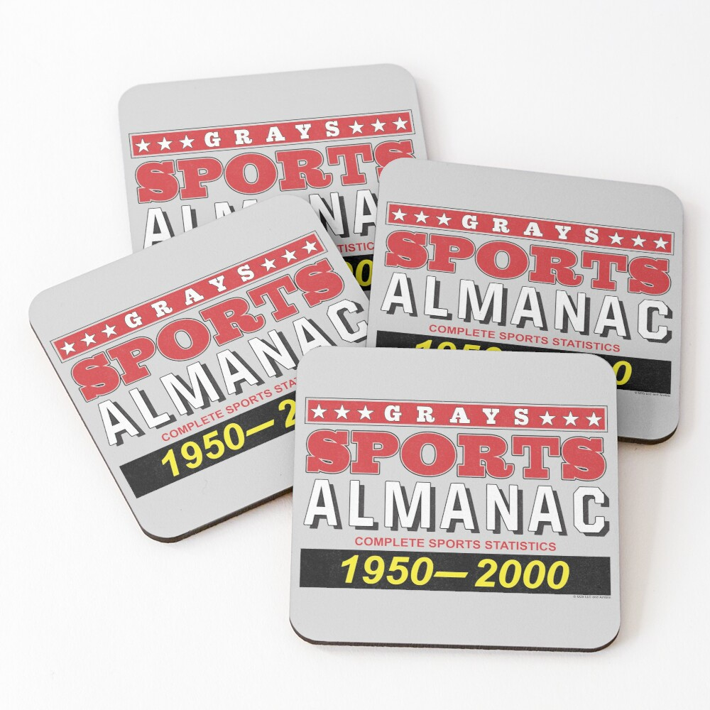 Biff's Sports Almanac Coasters (Set of 4)