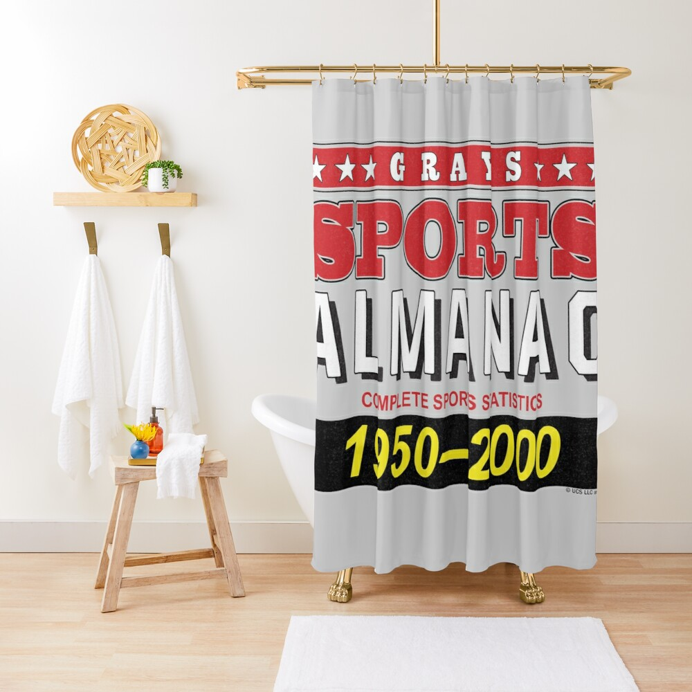 Biff's Sports Almanac Shower Curtain