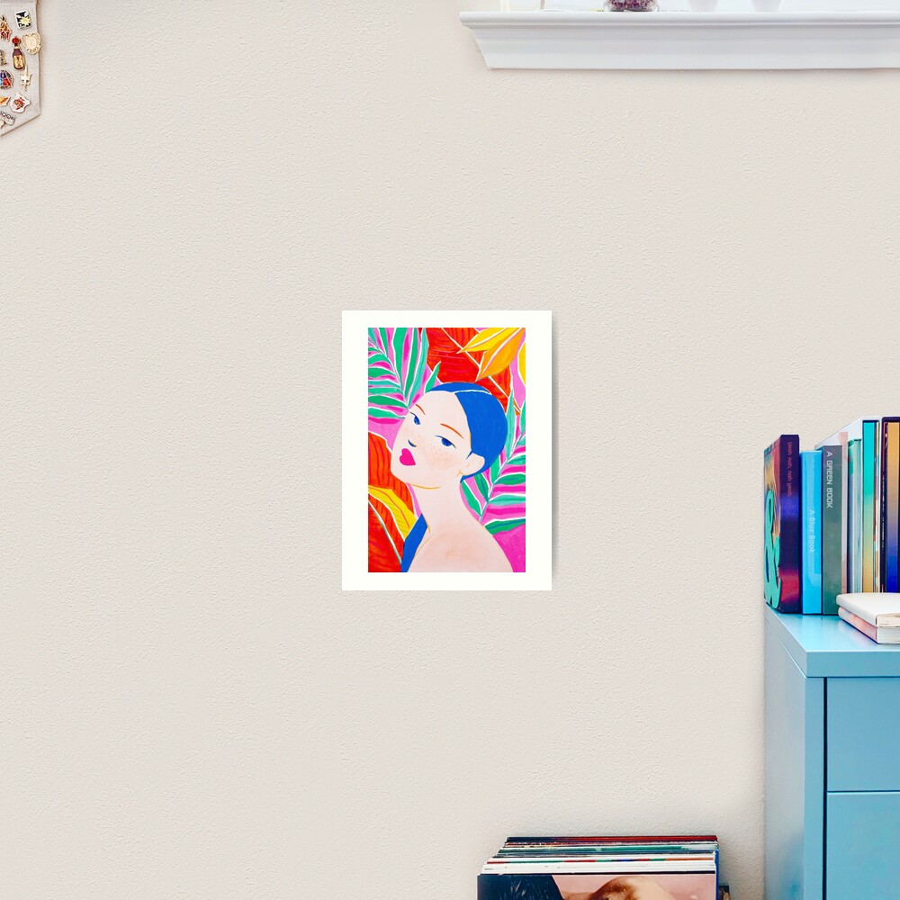 Ponytail Lady Art Print