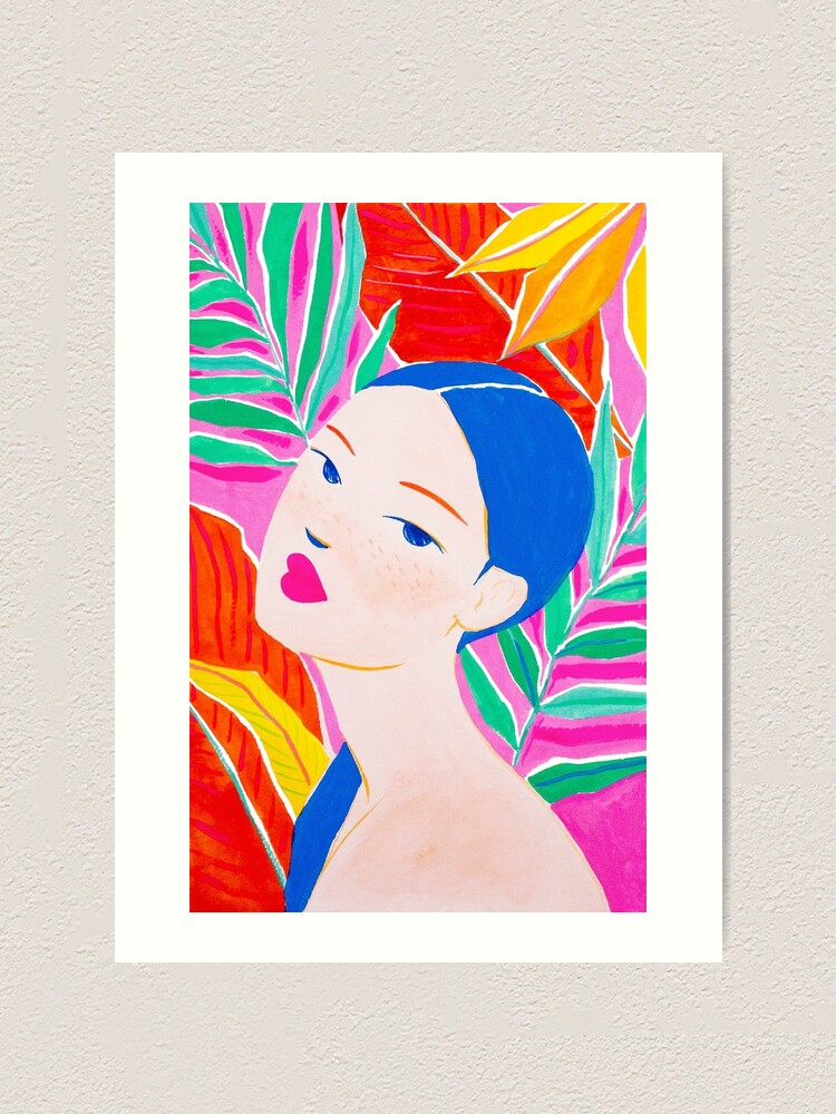 Alternate view of Ponytail Lady Art Print